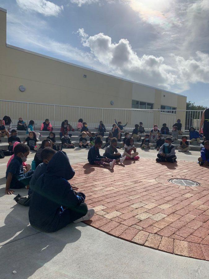 Kindergarten+scholars+prepare+to+perform+for+the+winter+concert.