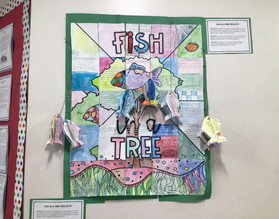 """A fifth grade class project about the book """"Fish in a Tree."""""""
