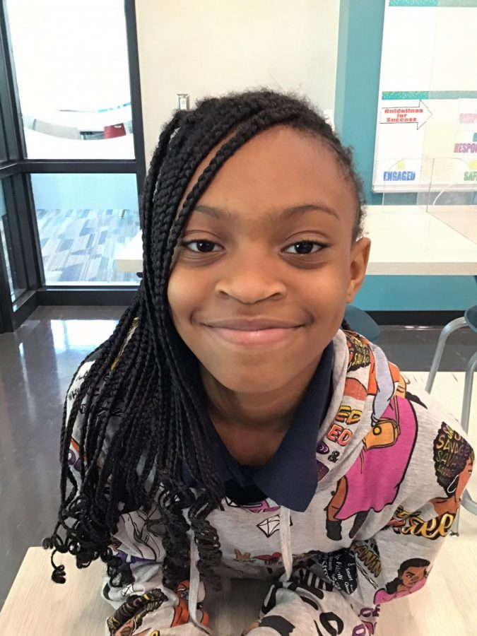Fourth grade staff writer Ma'kiyah Stone is a passionate journalist and poet.