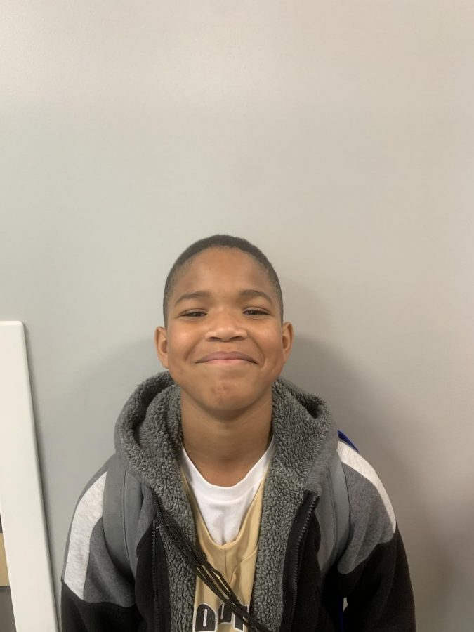 Fourth-grade writer Terrian Booth
