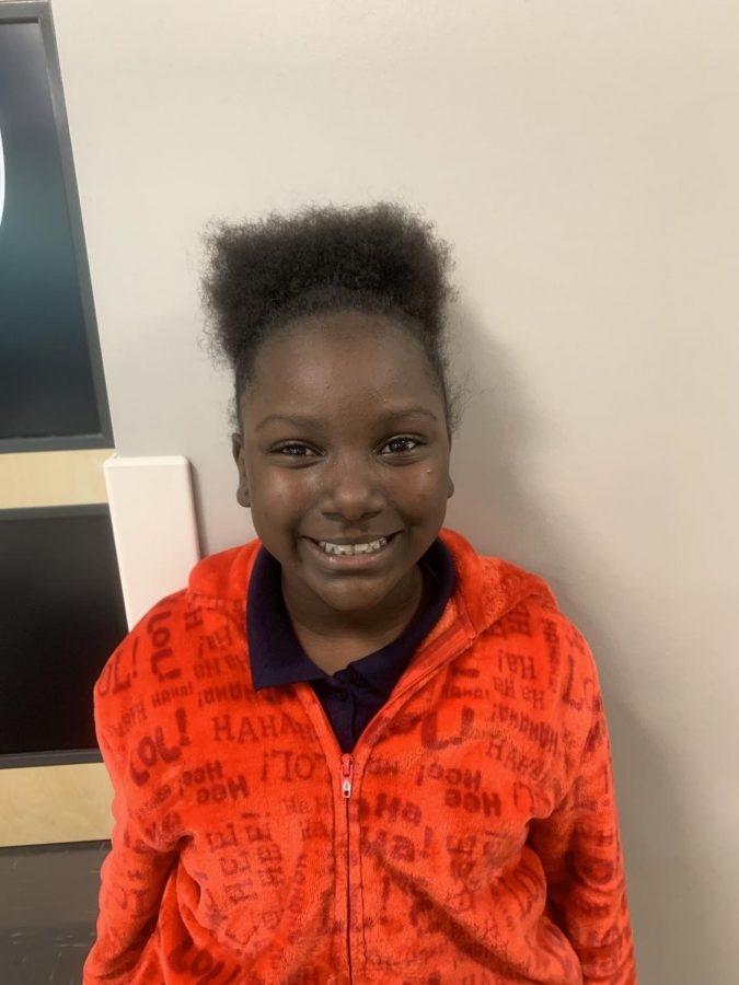 Fifth-grade writer Oziyana Morton